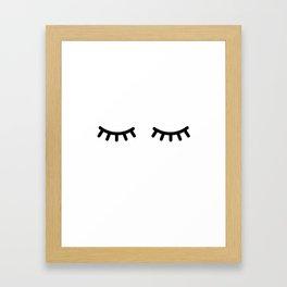 Eyelash Framed Art Print