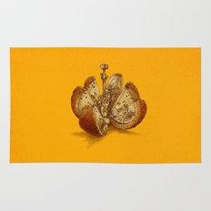 Steampunk Orange Rug