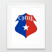 chile Framed Art Prints featuring Chile by jekonu