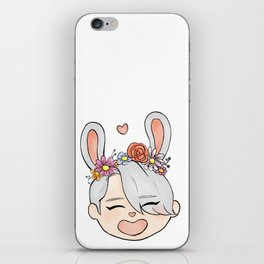 spring bunny victor iPhone Skin