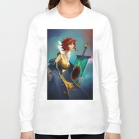 transistor Long Sleeve T-shirts featuring Red and Luna by Leksotiger