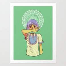 Miss Mouth Art Print