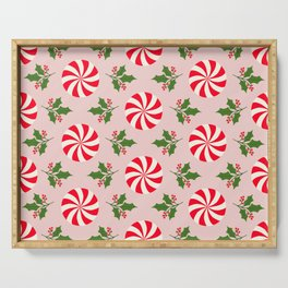 Vintage Peppermint Serving Tray