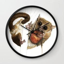 Munching Mouse Lemur Wall Clock