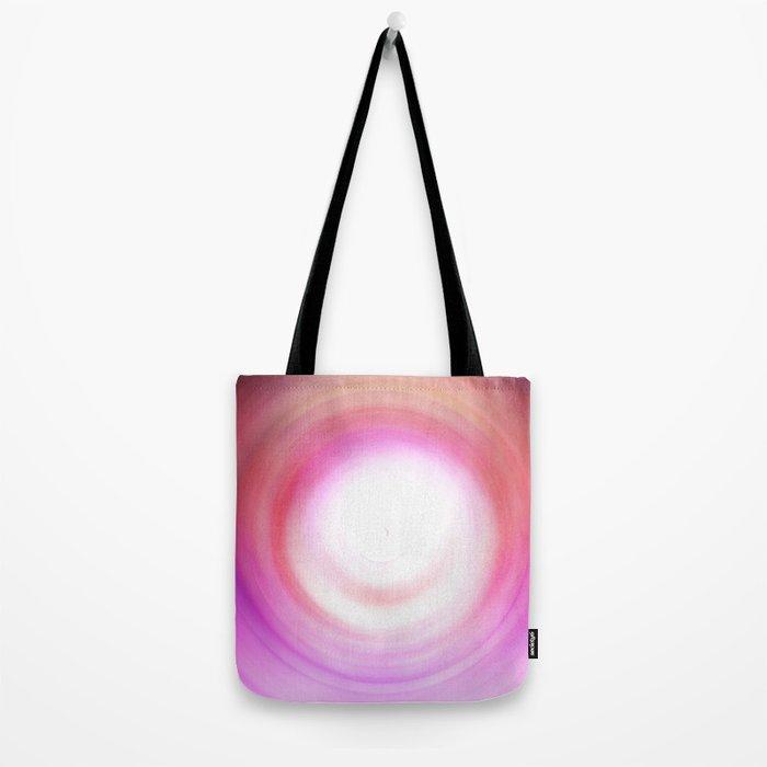 Purple and White Swirl Tote Bag