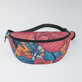 The Red Flowers Fanny Pack