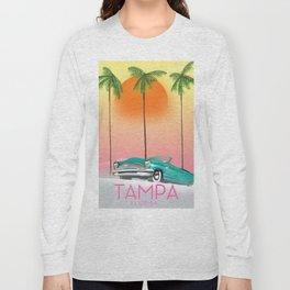 Tampa Florida Travel poster Long Sleeve T-shirt