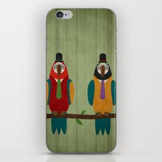 Suited parrots iPhone & iPod Skin