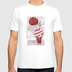 greed SMALL White Mens Fitted Tee
