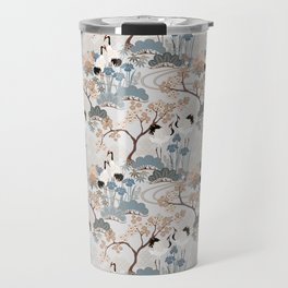 Japanese Garden Gray Travel Mug