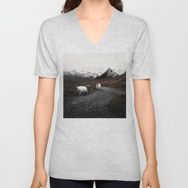 The Two Mountaineers Unisex V-Neck