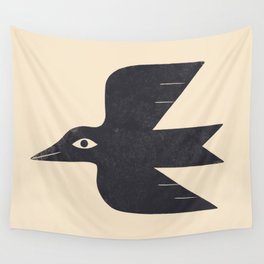 Minimal Blackbird No. 1 Wall Tapestry