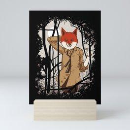 fox lady  Mini Art Print