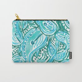 BLUE WHALE TWIRL Carry-All Pouch
