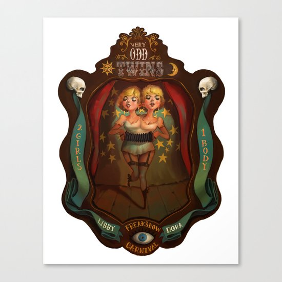 Very Odd Twins Canvas Print