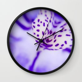Playful Colors Orchid Wall Clock