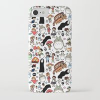 ghibli iPhone & iPod Cases featuring Kawaii Ghibli Doodle by KiraKiraDoodles