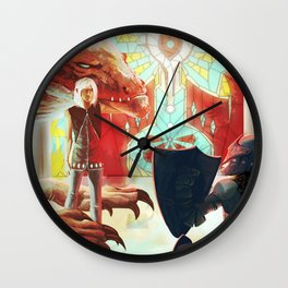 Temple Priests Wall Clock