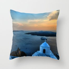 Santorini 10 Throw Pillow
