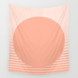The Sweet Life Collection - Peach Coral Sun Gradient Wall Tapestry