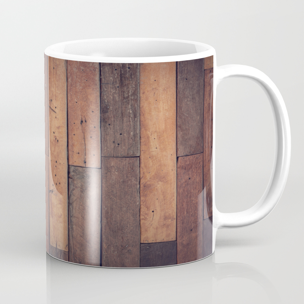 Wood Wall Tea Cup by Pointlesslyofficial MUG8832555