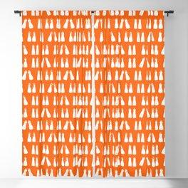 Scuba Diving White Fins on Orange Blackout Curtain