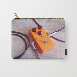 orange pedal effect and black cables on wooden floor. toning Carry-All Pouch