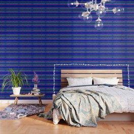 Cerulean Stripes Wallpaper