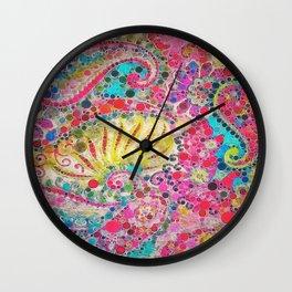 :: Perfectly Paisley :: Wall Clock