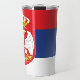 flag of Serbia-balkan,serbian,europe,yugoslavia, Pannonian,Belgrade,Novi Sad,nis,kragujevac Travel Mug