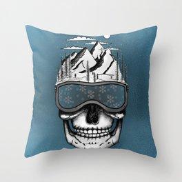 Skullorado v2 Throw Pillow