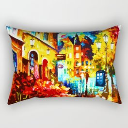 Tardis Street Art Painting Starry Night Rectangular Pillow