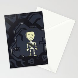 Skeleton boy artwork Stationery Cards