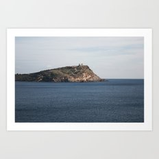 Greek seascape - landscape photography poster - Cape Sounio - Greece Art Print