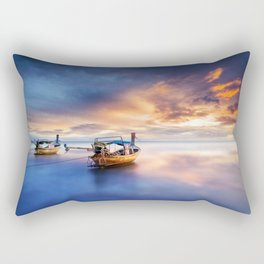 Ao nang beach at sunrise Rectangular Pillow