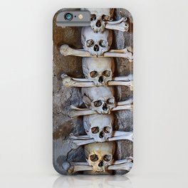Sedlec Ossuary Skulls Photo Art, Skull Bone Church iPhone Case
