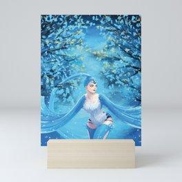 Snow bird queen Mini Art Print