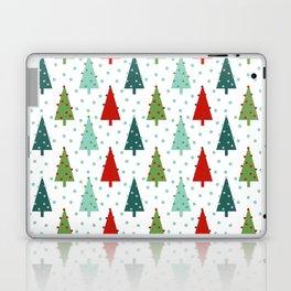 Christmas Tree holiday dots snow polka dot minimal modern geometric christmas decor design Laptop & iPad Skin