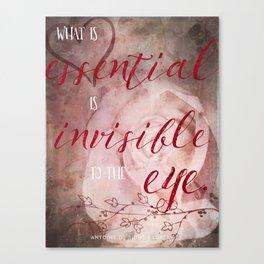 Le Petit Prince Quote Poster - short Canvas Print