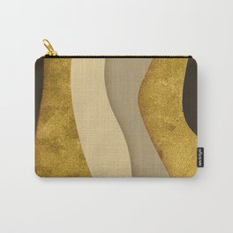 Gold Ribbons Carry-All Pouch