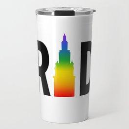 Cleveland LGBTQ Pride Terminal Tower Travel Mug