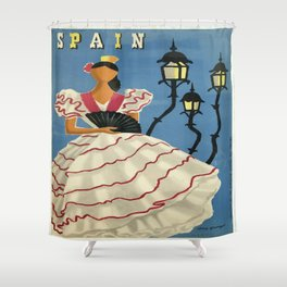 Vintage poster - Spain Shower Curtain