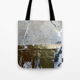 Elegantly Rough: an abstract, minimal piece in gold, pink, black and white by Alyssa Hamilton Art Tote Bag