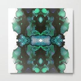 blue inertia Metal Print