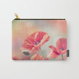 Beautiful Poppy flowers bloom in the garden Carry-All Pouch