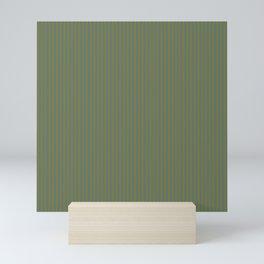 Yellow and blue green fine stripes neutral color design Mini Art Print