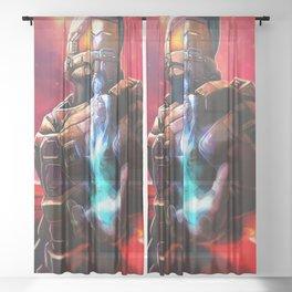 Neon Chief Sheer Curtain
