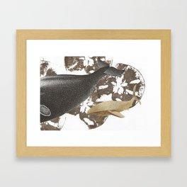 whale away Framed Art Print
