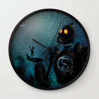 superman Wall Clocks featuring Superman by Samanthadoodles