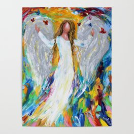 Angel and Butterflies Poster